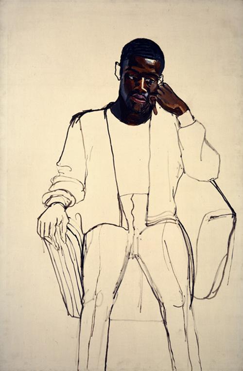 """Alice Neel, """"Чернокожий призывник"""", 1965"""