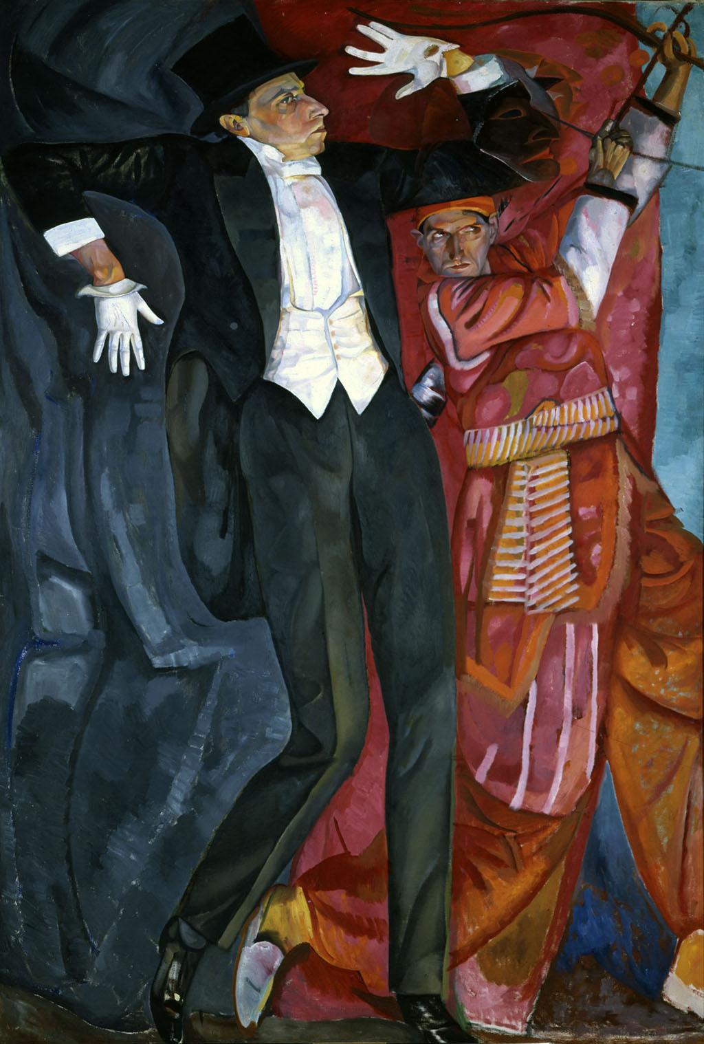 """Борис Григорьев, """"Портрет Всеволода Мейерхольда"""", 1916"""