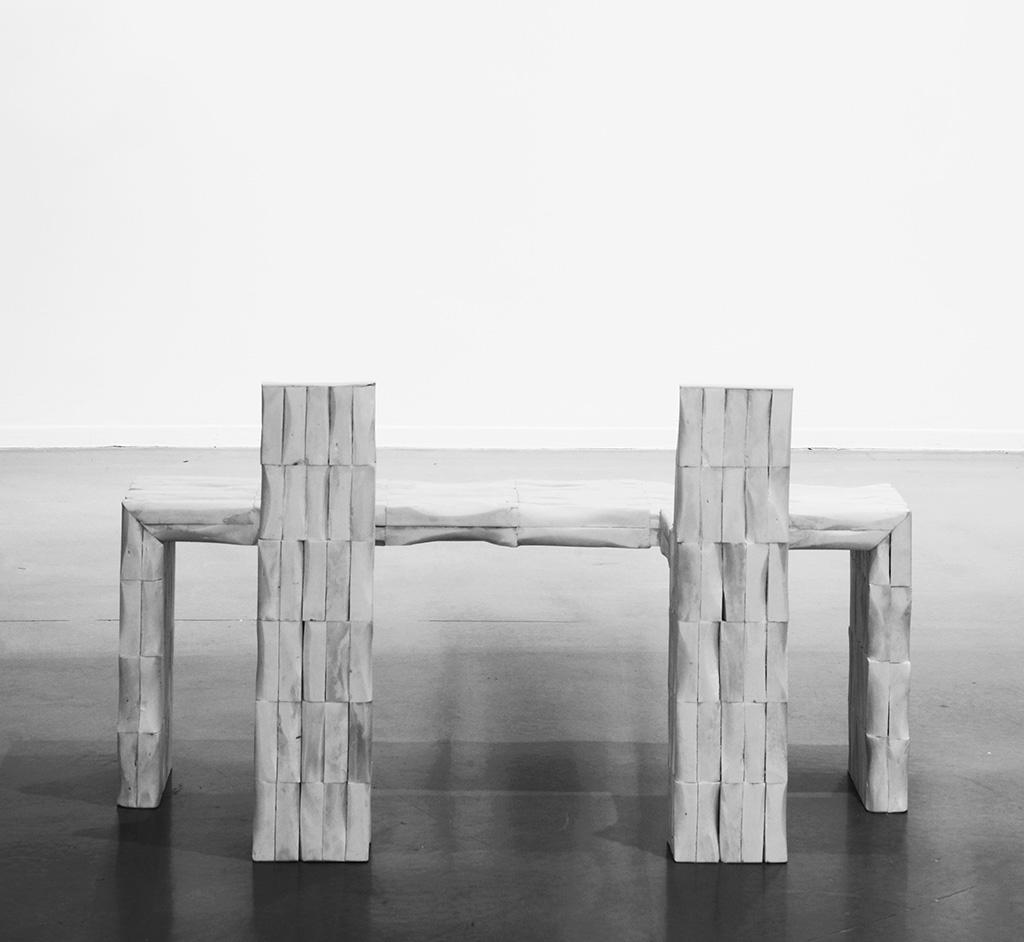 Рик Оуэнс Скамья из коллекции «Prehistoric» Кость Галерея «Jason Jacques», Нью-Йорк