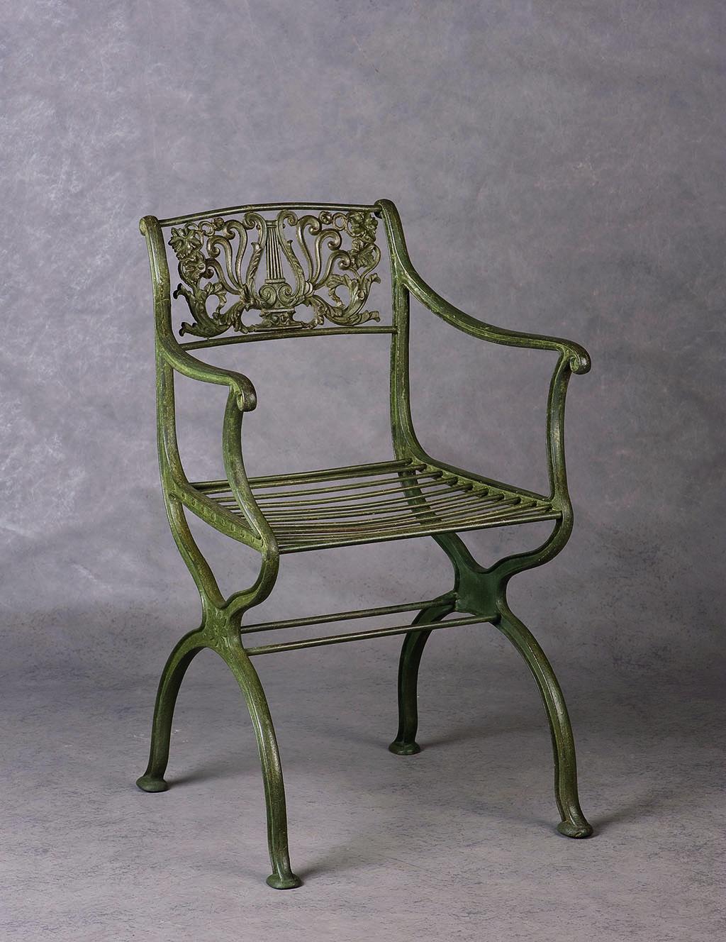 Карл Фридерик Шинкель Садовый стул Чугун, литье, 1830 Галерея «Otto von Mitzlaff», Германия