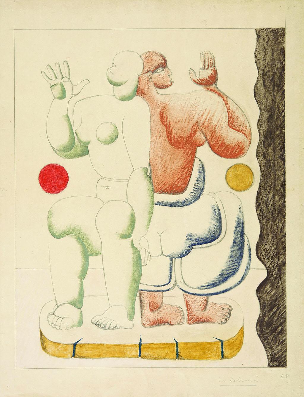 Ле Корбюзье пастель, 1927