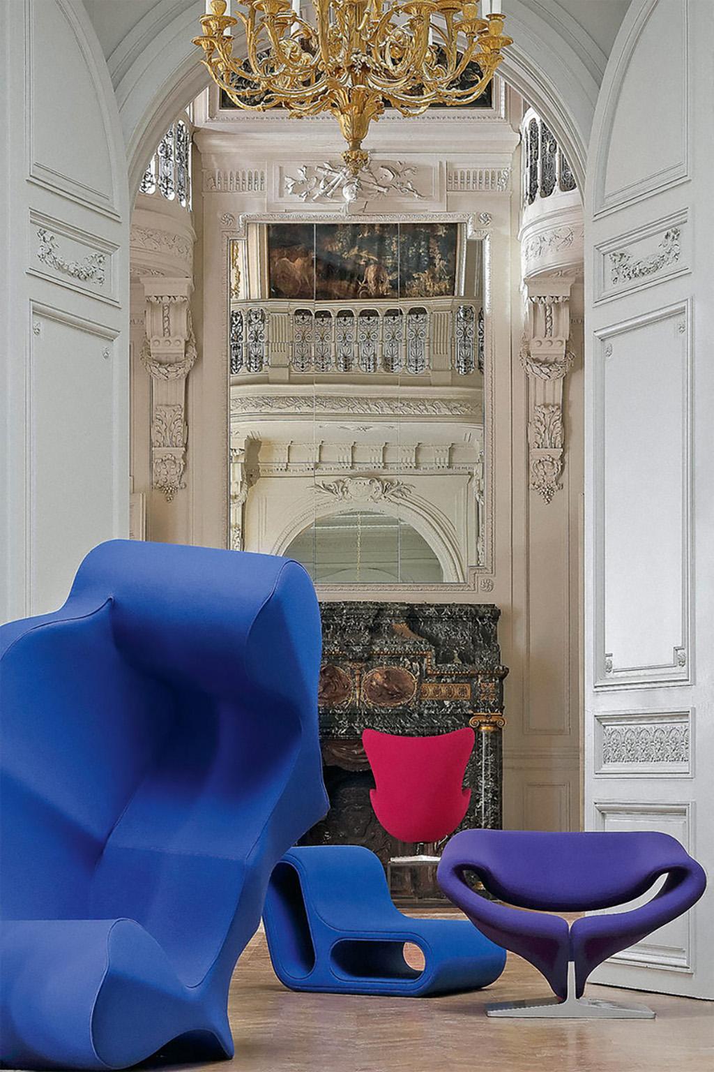Cтулья Пьера Полена в Елисеейском дворце