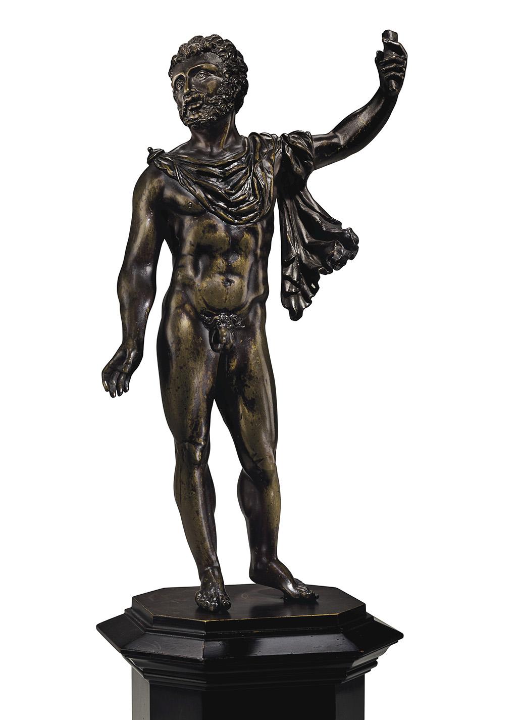 A bronze figure of Jupiter первая четверть XVI века