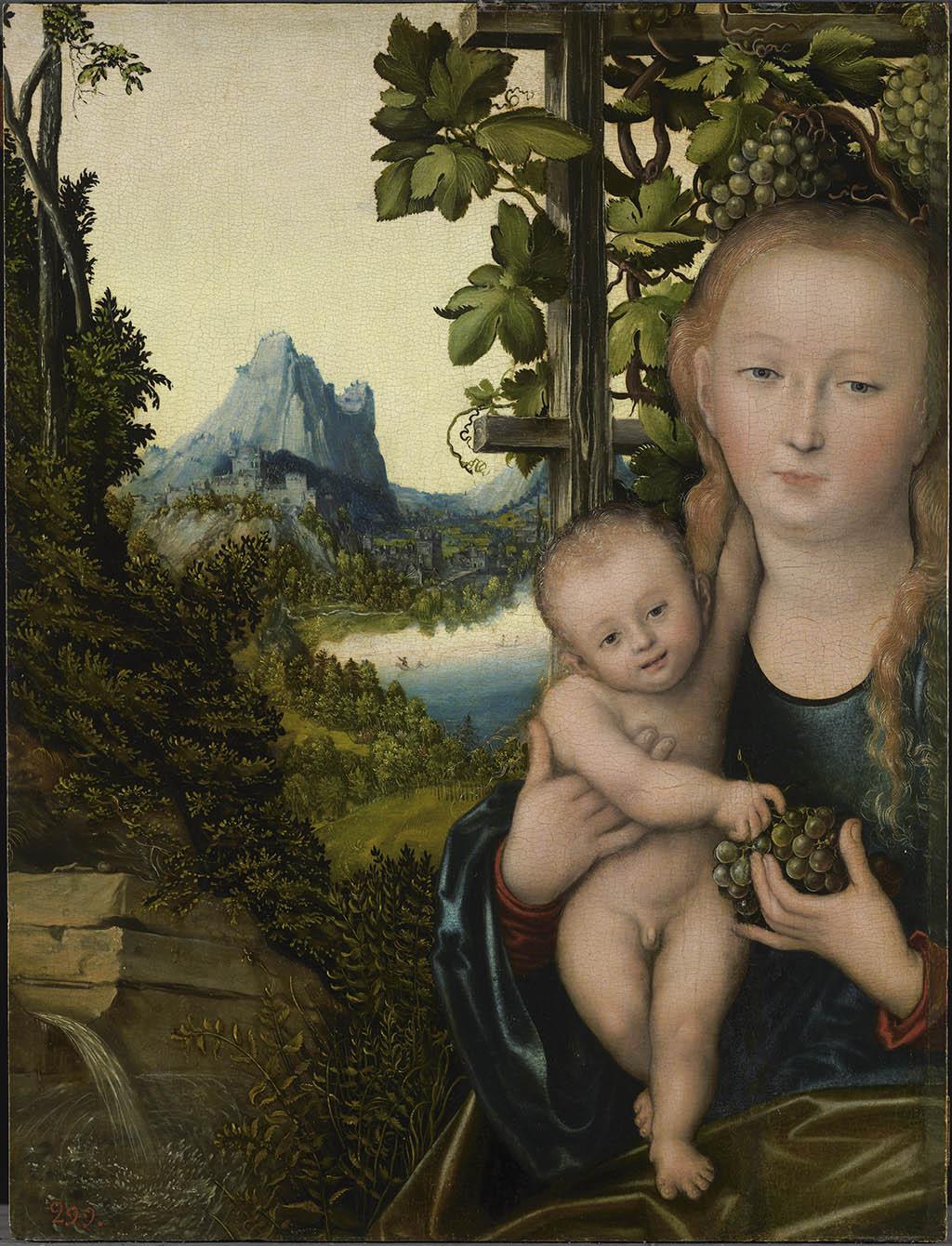 Лукас Кранах Старший Мадонна с младенцем (Мадонна в винограднике)