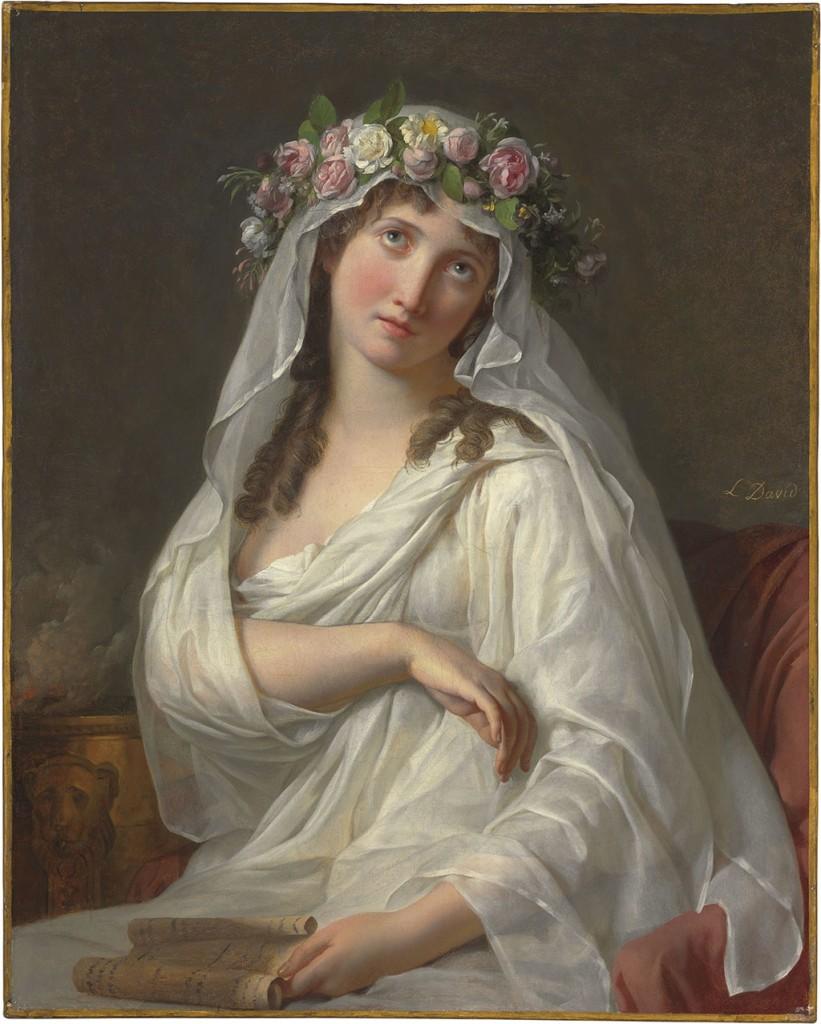 """Jacques-Louis David """"A Vestal"""""""