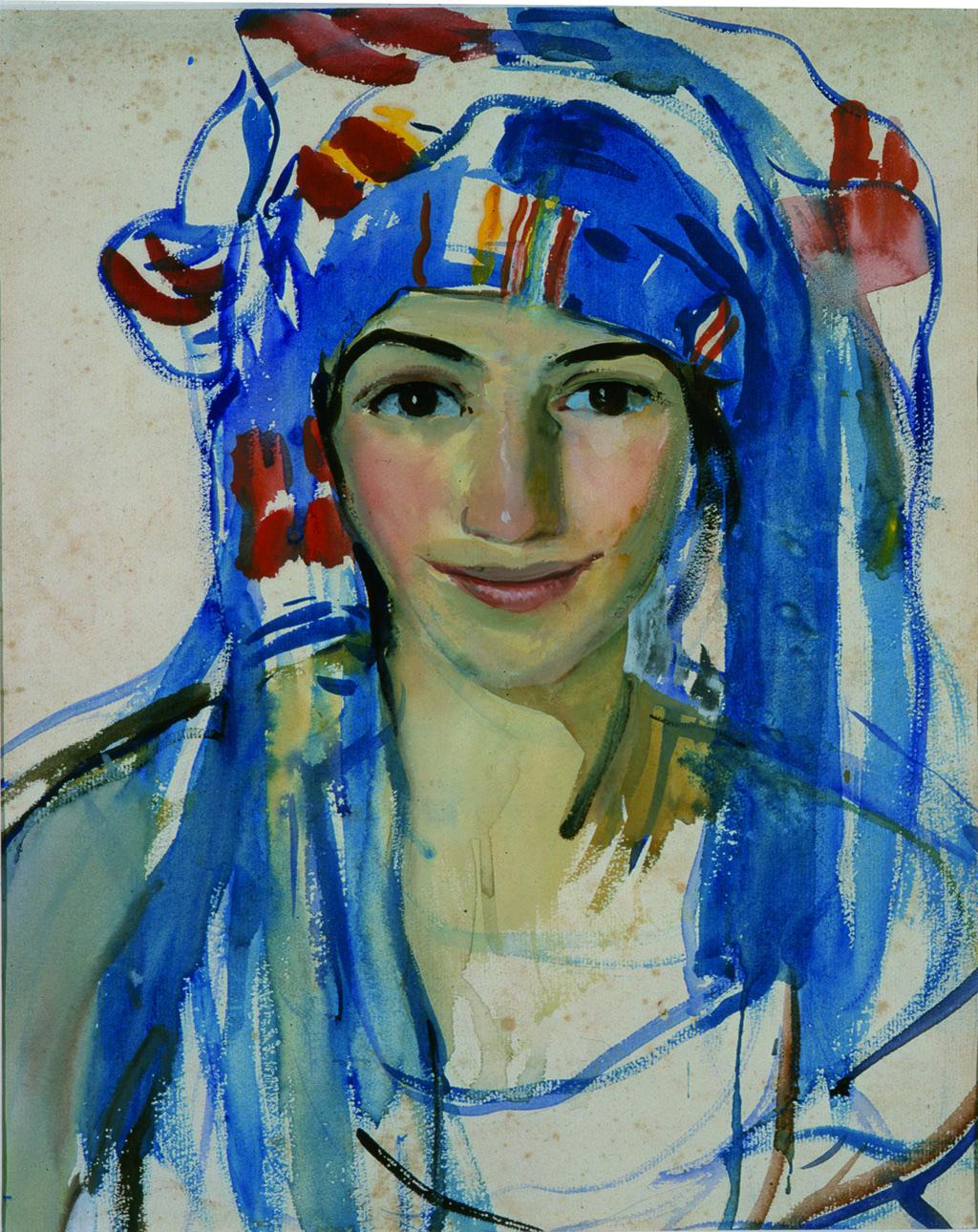 Зинаида Серебрякова (1884-1967) Автопортрет в шарфе, 1911