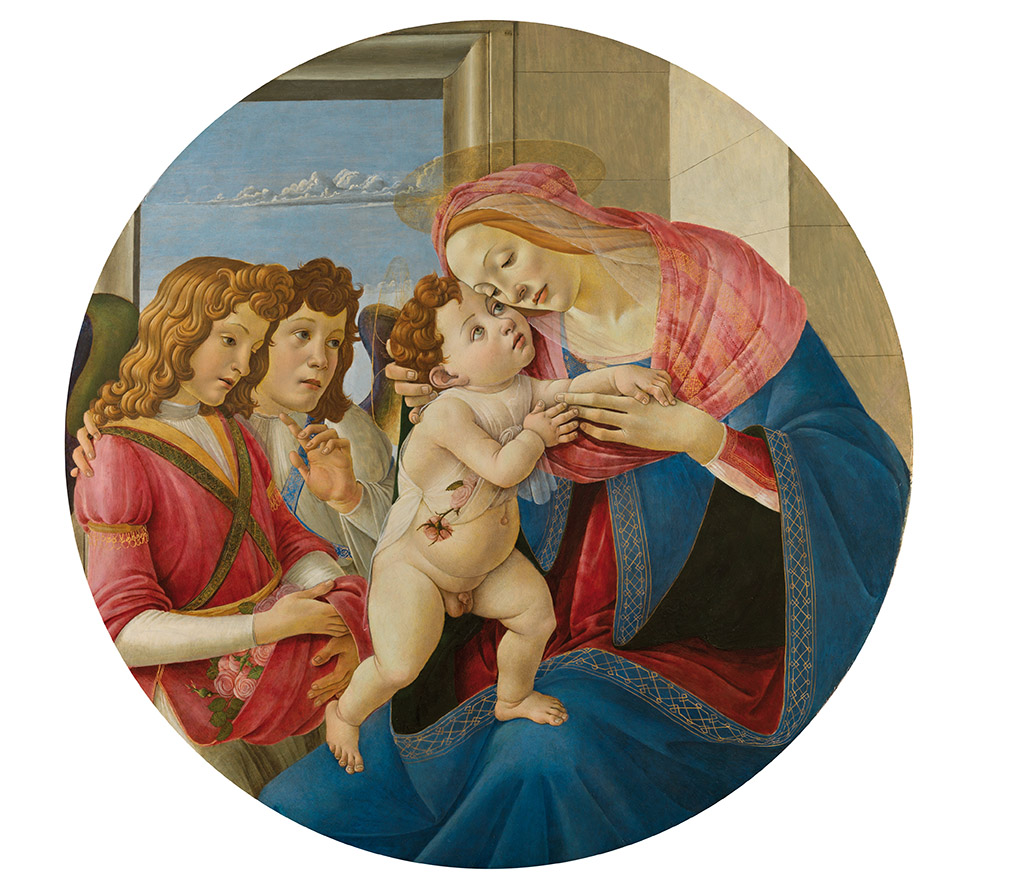 "Sandro Botticelli ""The Virgin and Child with Two Angels"", 1490"
