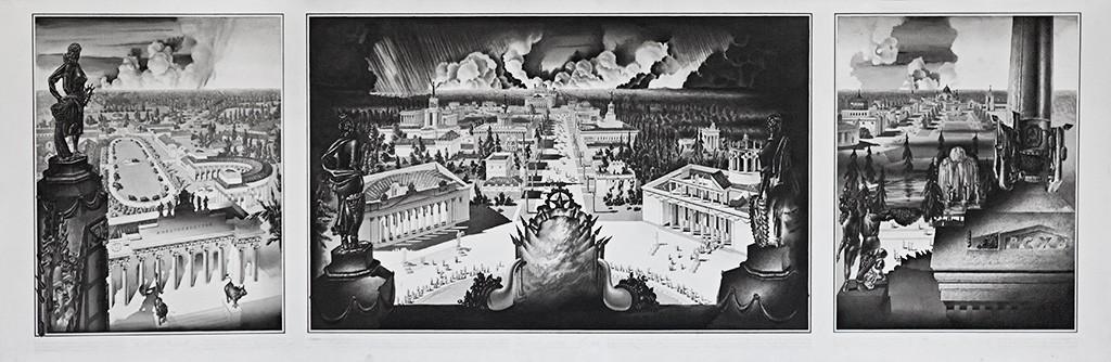 Рисунок Алексея Резвого для экспозиции в павильоне России