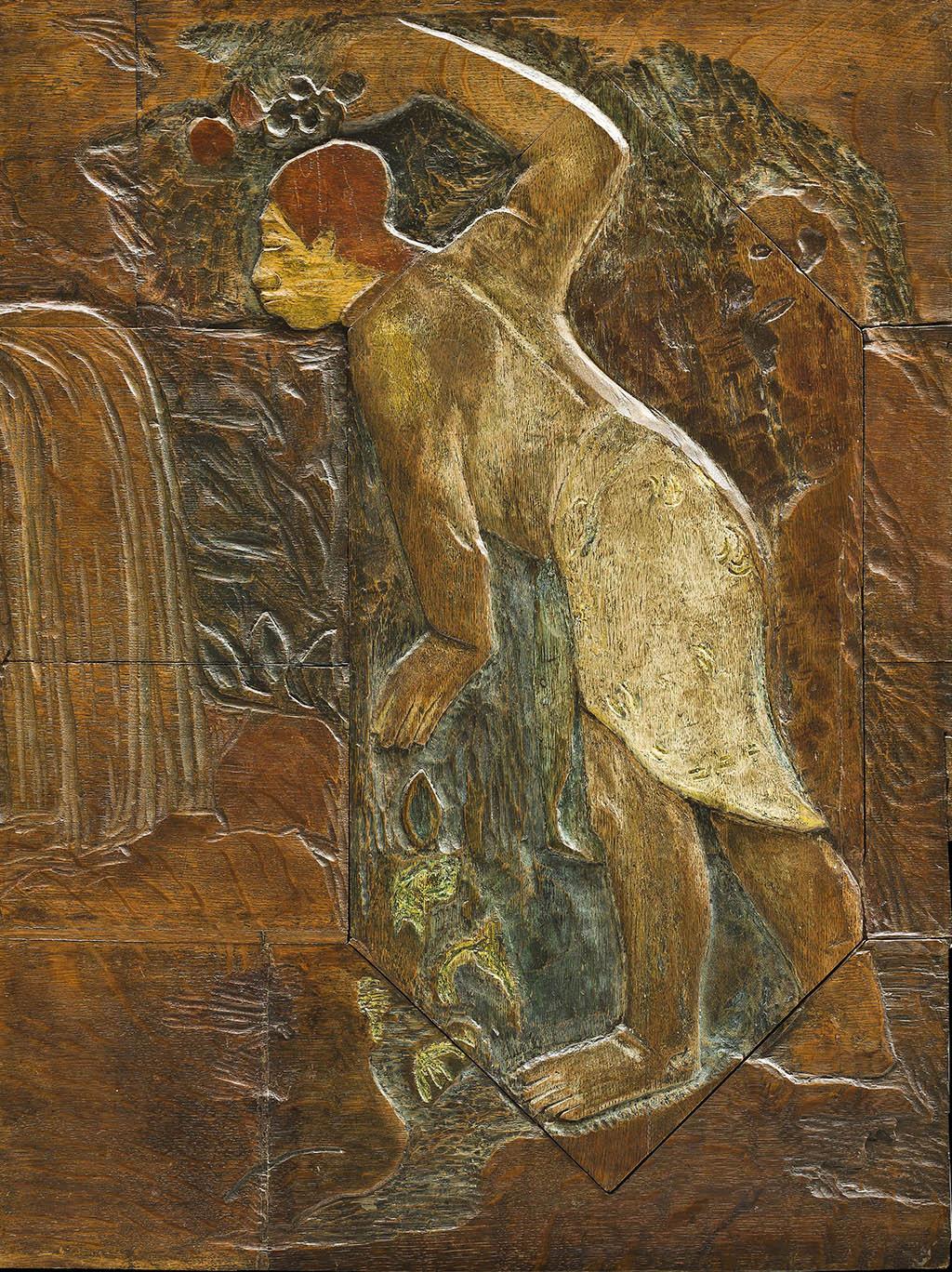 "Поль Гоген Pape moe ("" Волшебная река"") крашенный дуб 1894"