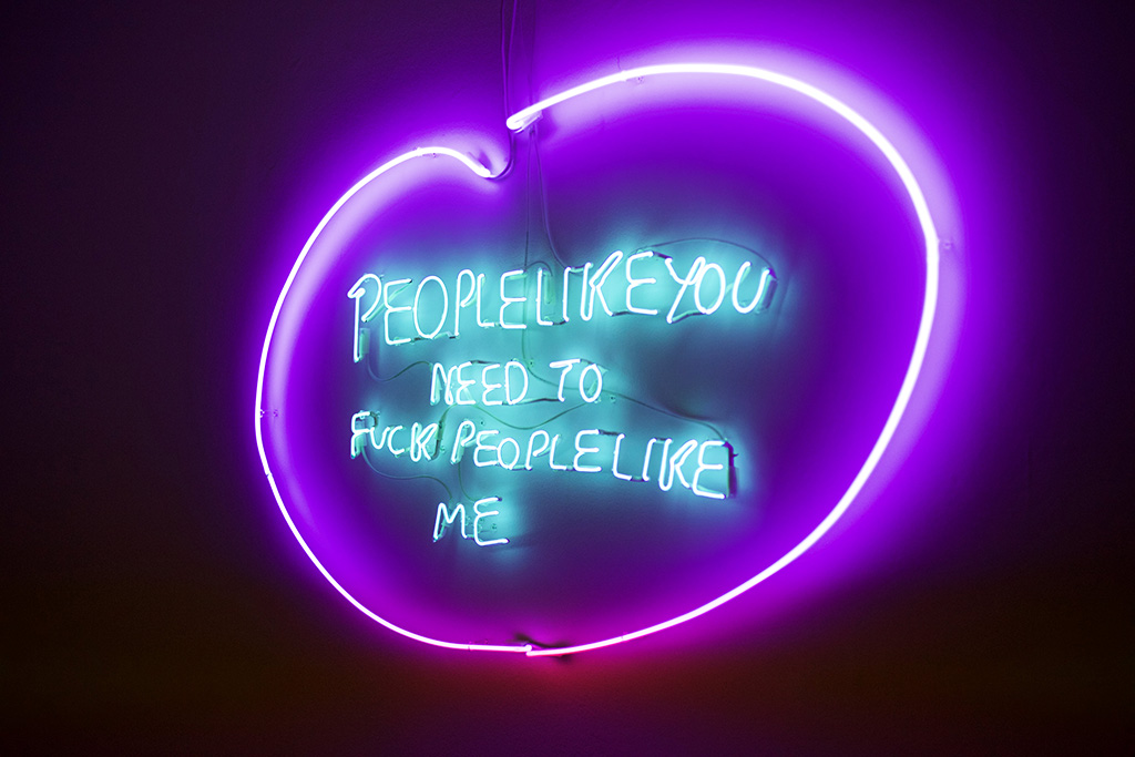Tracey Emin People like you need to fuck peoplelike me 2007