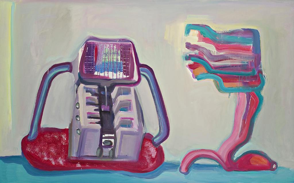 Мария Лассниг Твердая и мягкая машина 1988 Photo: Universalmuseum Joanneum, N. Lackner © Maria Lassnig Stiftung