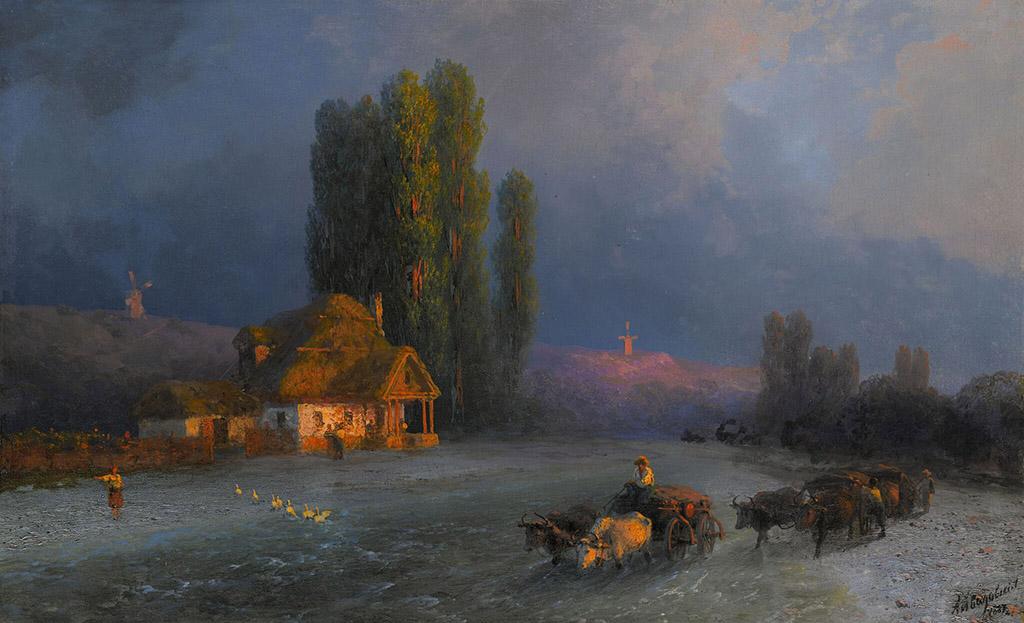 """Иван Айвазовский """"Вечерний отсвет"""" 1887"""