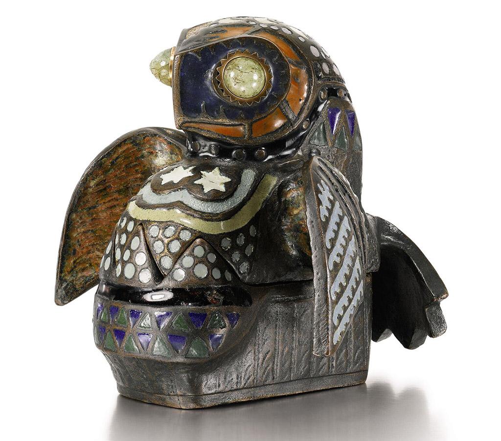 «Сова» бронзовая эмалированная шкатулка из серии «Загадочные зверюшки» из собрания княгини Марии Тенишевой 1908