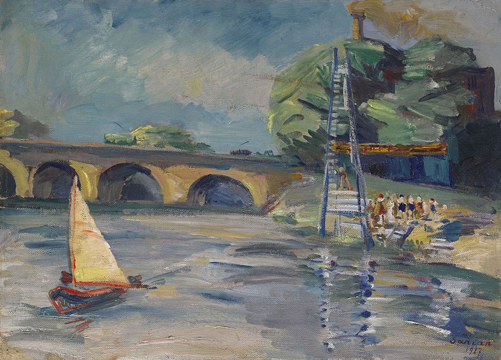 """Мартирос Сарьян """"Сена. Париж"""" 1927"""