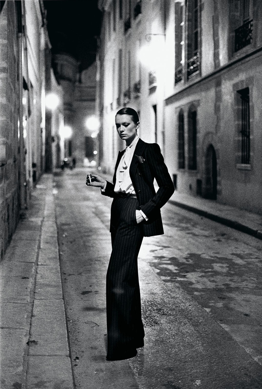 Yves Saint Laurent French Vogue Rue Aubriot, Paris 1975 © Helmut Newton Estate