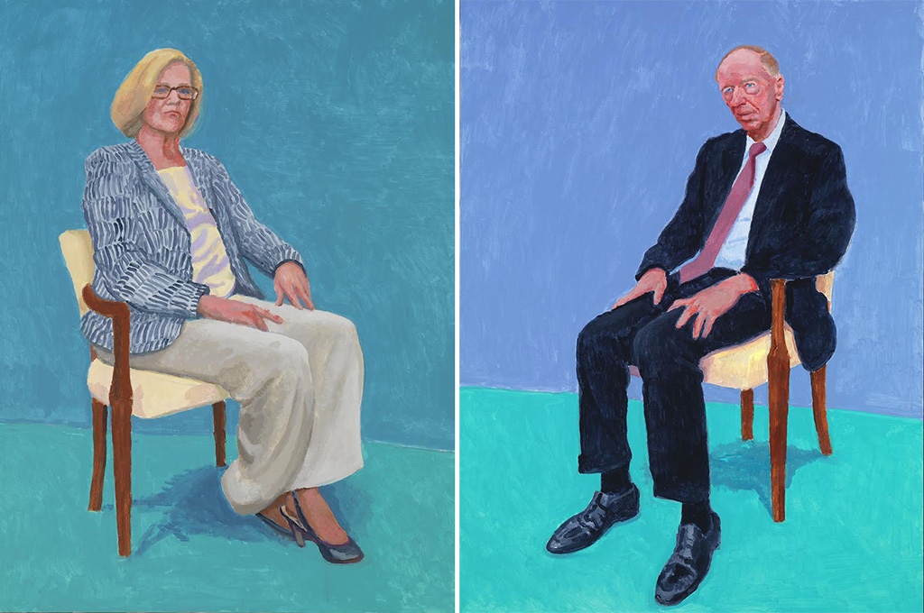 Dagny Corcoran, 15th, 16th, 17th January 2014 / Jacob Rothschild, 5th, 6th February 2014 (c) David Hockney Photo credit: Richard Schmidt