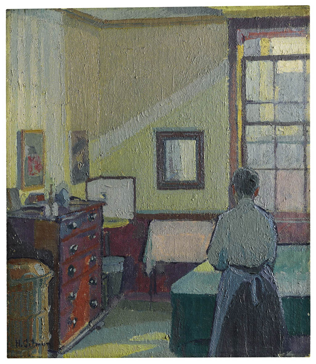 "Harold Gilman ""Interior (Mrs Mounter)"" 1917"