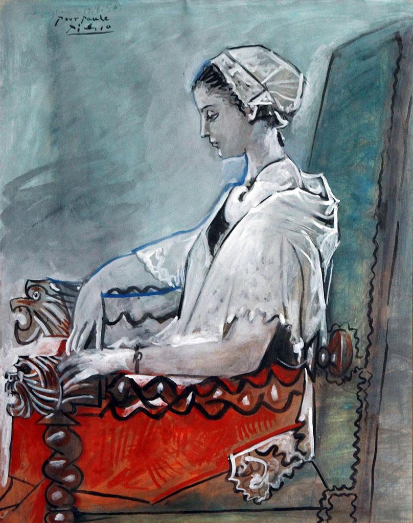 """Pablo Picasso """"Portrait de Paule de Lazerme en Catalane"""" 1954 © Succession Picasso 2016"""