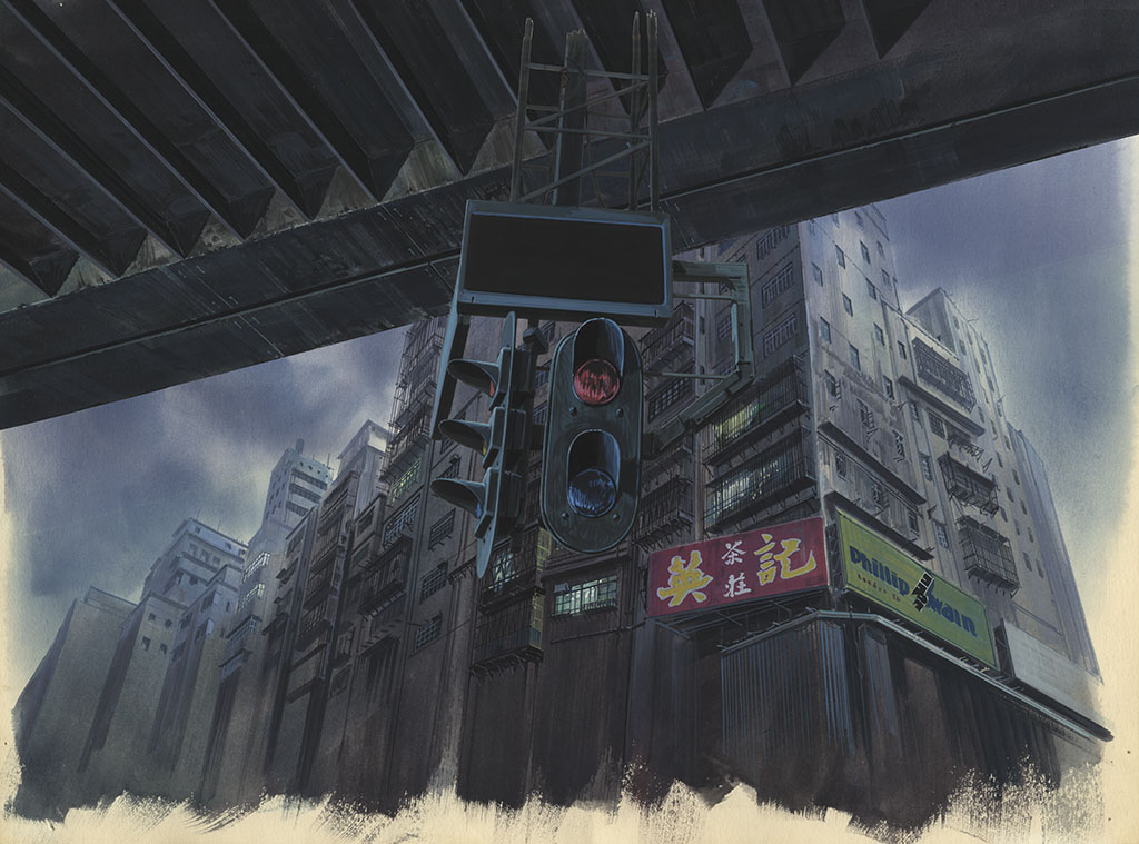 "Background for ""Ghost in the Shell"" («Призрак в доспехах») 1995 Illustrator: Hiromasa Ogura Copyright: © 1995 Shirow Masamune / KODANSHA · BANDAI VISUAL · MANGA ENTERTAINMENT Ltd."
