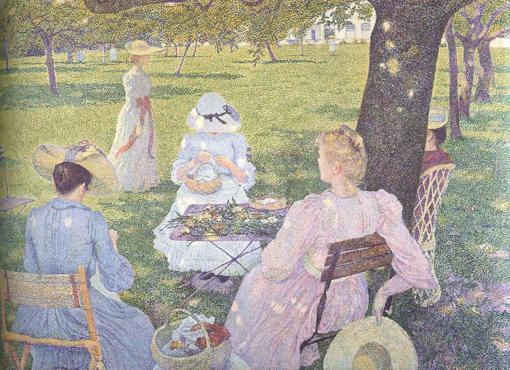 """Тео ван Рийссельберг """"Июль. Семья в саду"""" 1890"""