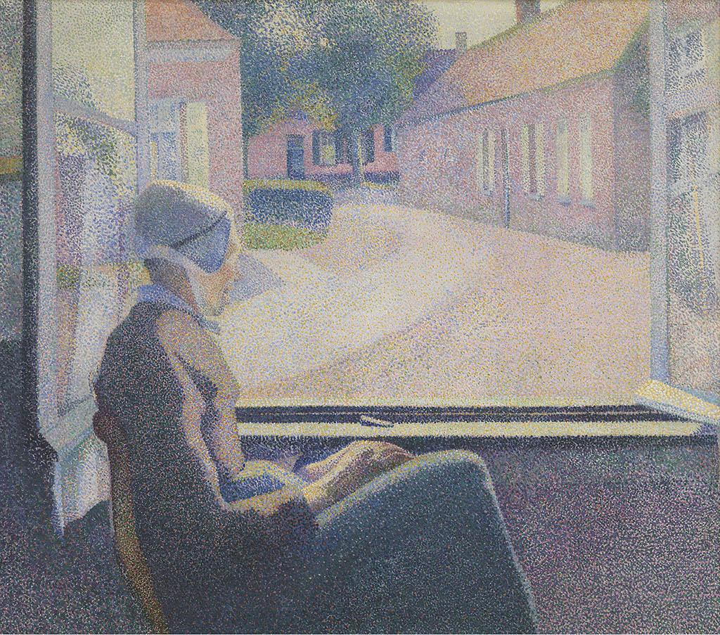 """Анри ван де Вельде """"Женщина, сидящая у окна"""" 1889"""