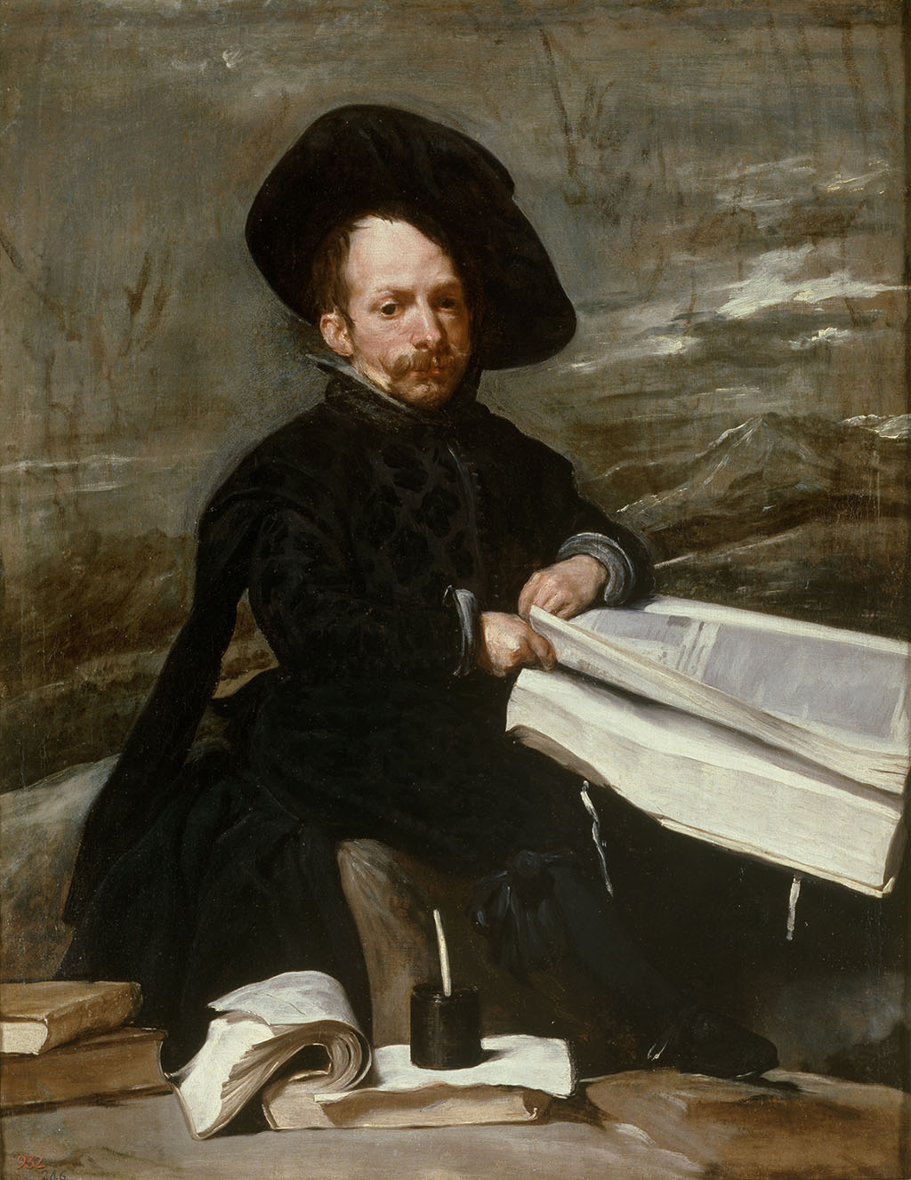 "Diego Velázquez ""The Buffoon with books"" 1644 (c) The Museo del Prado"