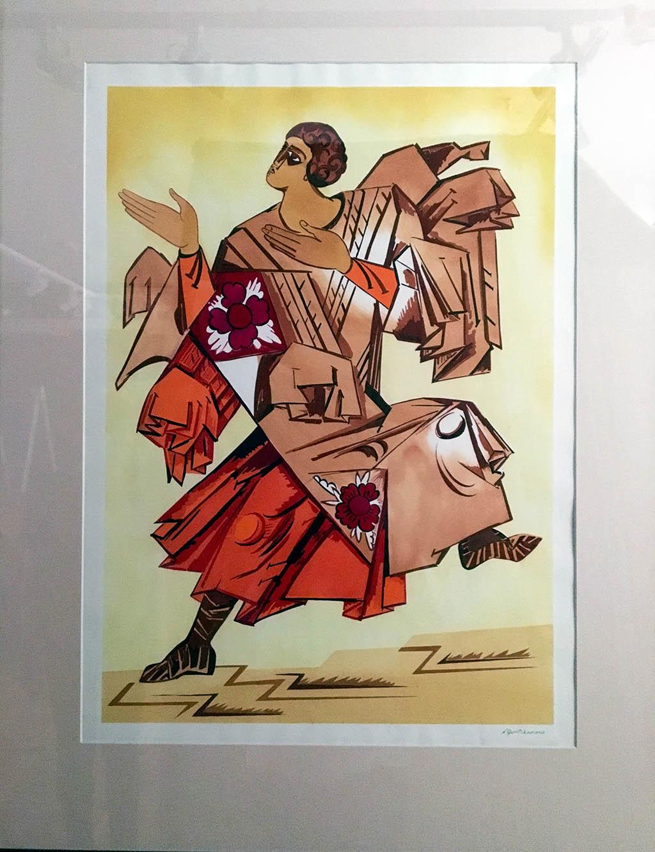 Эскиз мужских костюмов к постановке «Литургия» 1915 Из собрания ГЦТМ им. А. А. Бахрушина