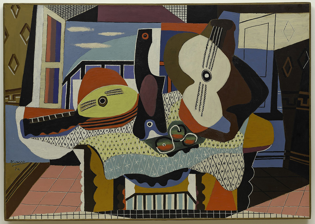 "Pablo Picasso ""Mandolin and Guitar"" Juan-les-Pins 1924"