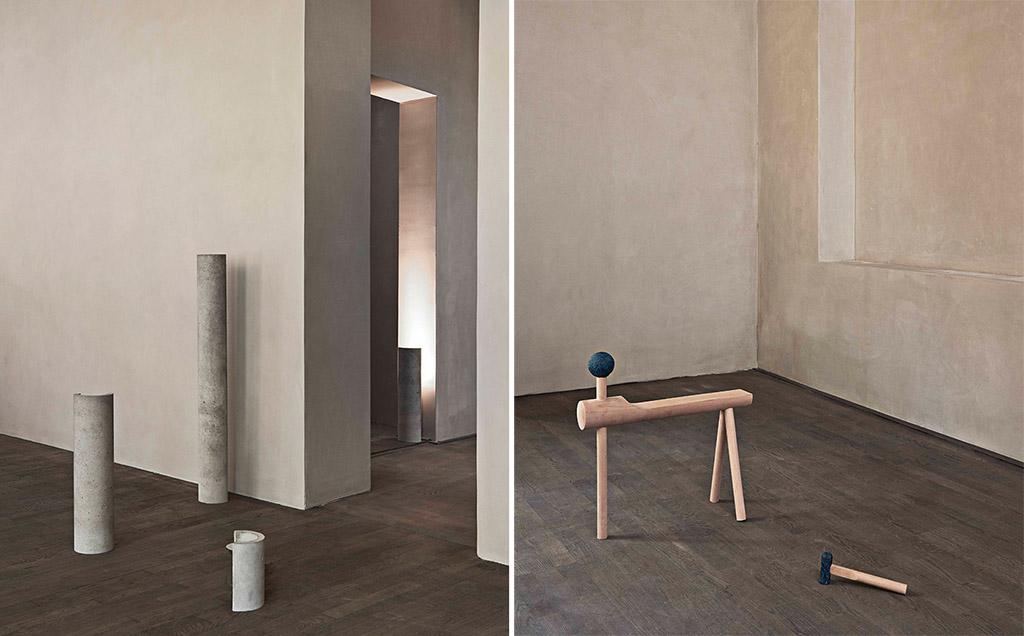 """Mathias Weber """"Column Lights"""" / Krøyer-Sætter-Lassen """"Tools from Ørbæk"""""""
