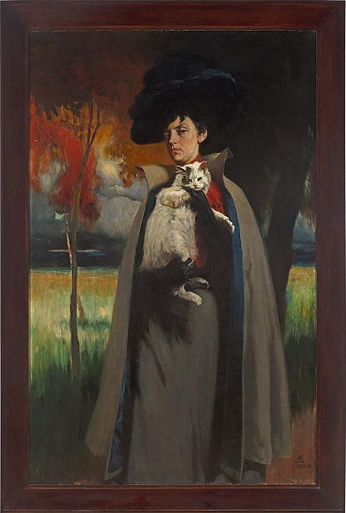 """Дмитрий Кардовский """"Портрет Марии Хрущевой"""" около 1900"""