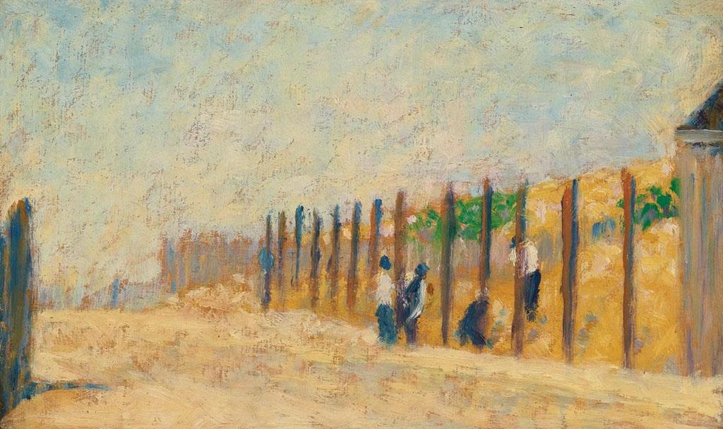 """Жорж-Пьер Сёра """"Рабочие, забивающие сваи"""" 1882"""