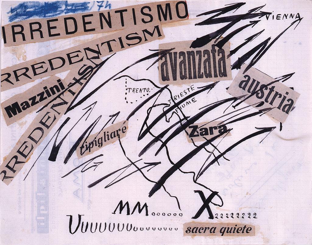 """Filippo Tommaso Marinetti """"Parole in libertà"""" 1914"""