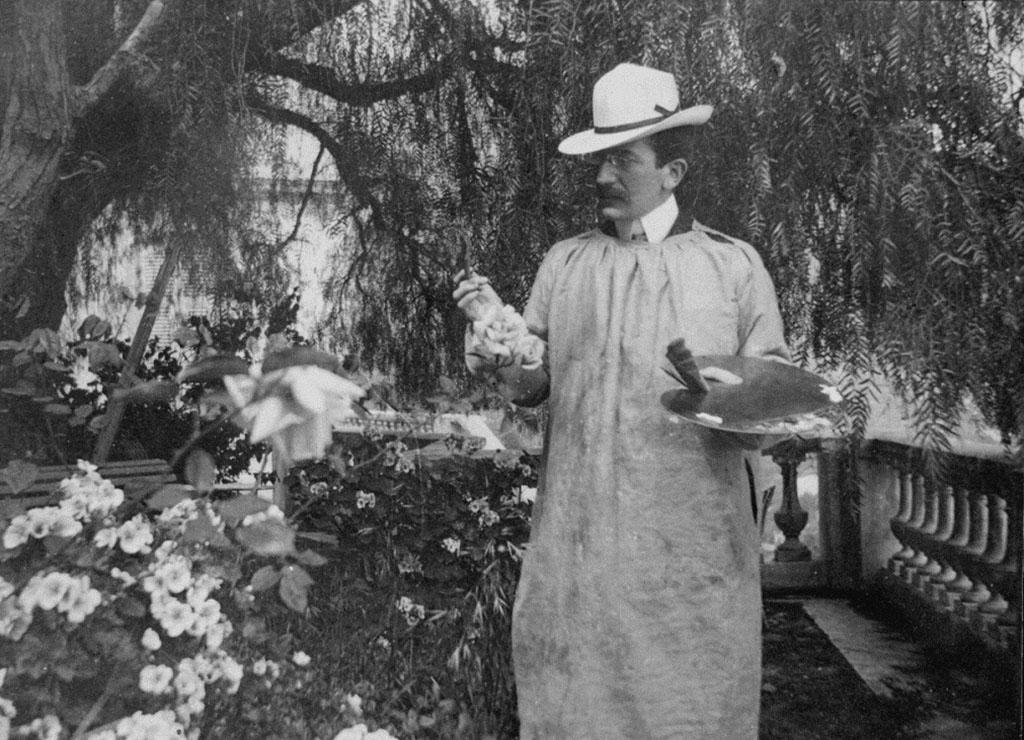 Фотография Л.С. Бакст. Ментона 1903