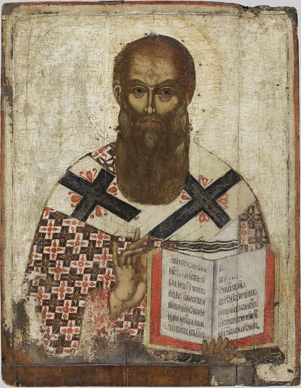 Икона «Святитель Афанасий Александрийский» Середина XV века Псков