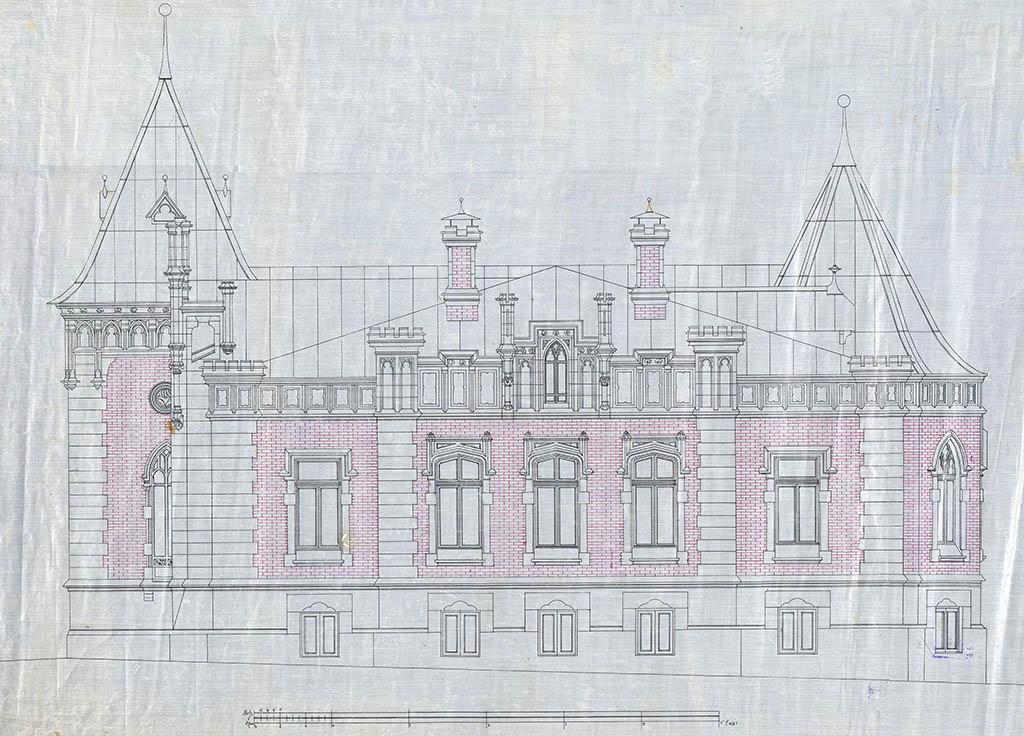 Западный фасад дома А. А. Бахрушина