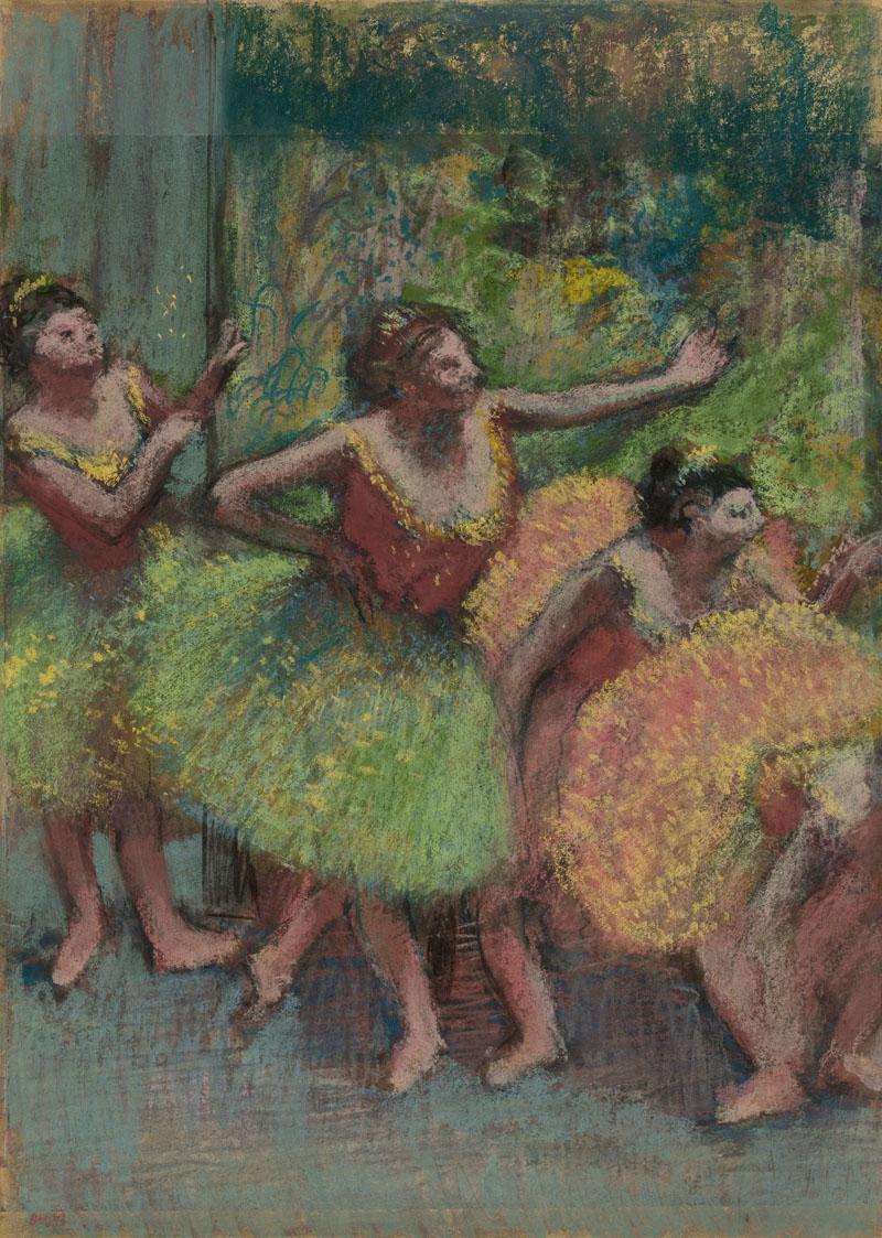 Edgar Degas, Dancers in Green and Yellow (Danseuses vertes et jaunes), ca. 1903