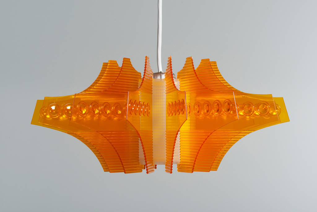 'Red A Plastic Crystal Lamp Fixture, No. 1616' by Star Industria